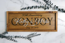 Load image into Gallery viewer, Personalized Family Name Sign | Anniversary Sign | Wedding Sign | New Home
