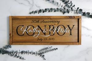 Personalized Family Name Sign | Anniversary Sign | Wedding Sign | New Home