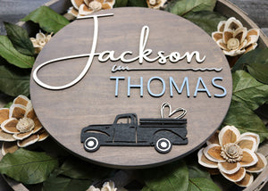 "Personalized Name Sign | 12"" Round Nursery Sign 