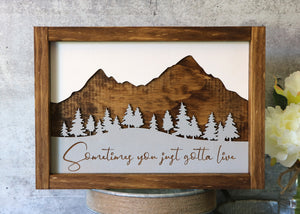 Outdoor Adventure Series | Not All Who Wander Are Lost | Multiple Choices | Framed Laser Wood Sign