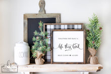 Load image into Gallery viewer, Life They Loved | Personalized Framed Wood Sign | Laser Option Available | 12x12