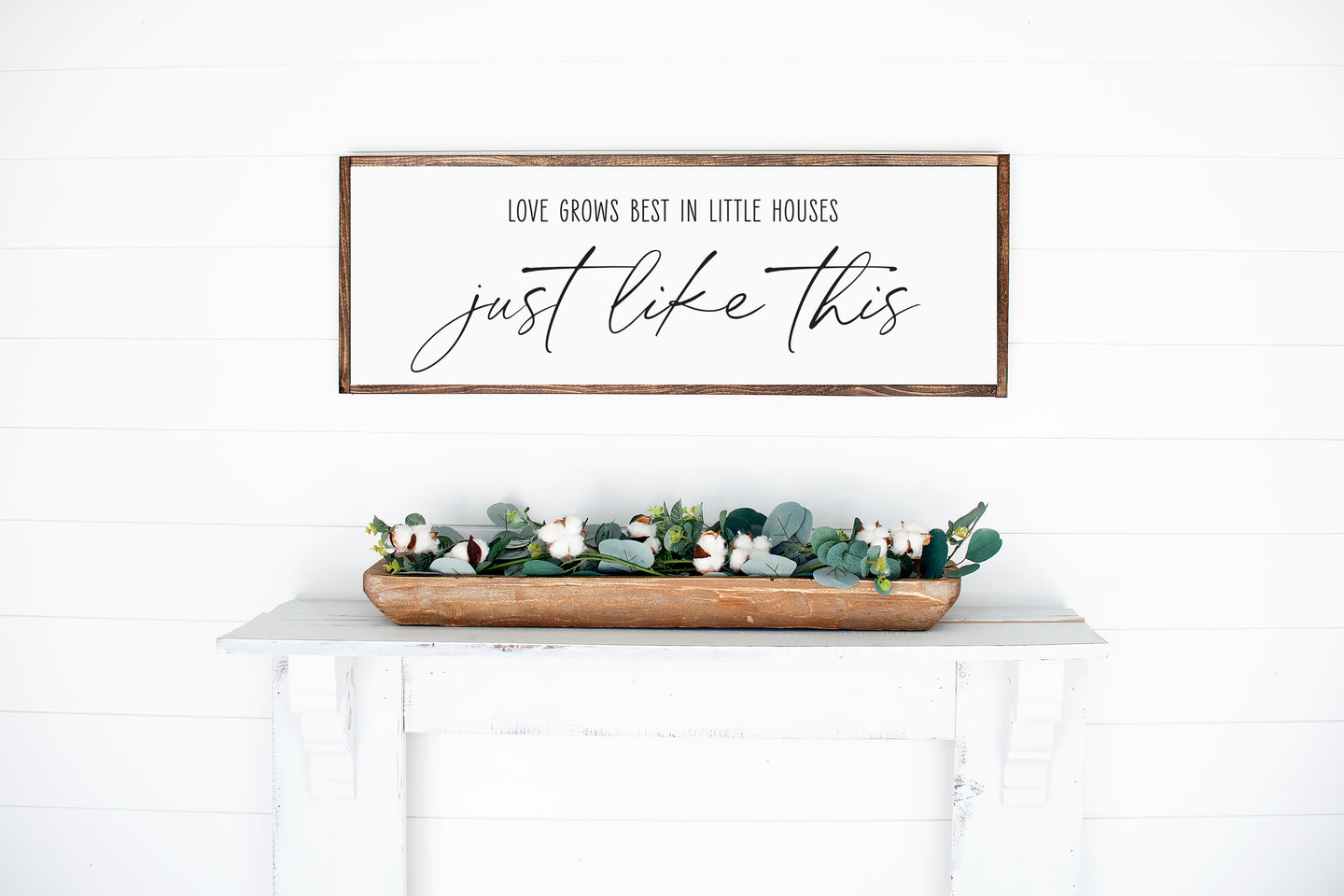 Love Grows Best In Little Houses | Framed Wood Sign | Multiple Sizes Available