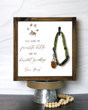 Load image into Gallery viewer, Pet Memorial Collar Keepsake Frame | Personalized Laser Engraved Wood Sign
