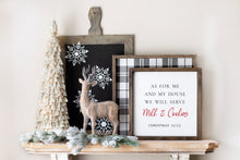 Load image into Gallery viewer, As For Me And My House - Milk & Cookies - Christmas | Framed Wood Sign