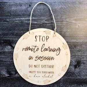Remote Learning Do Not Disturb | Customizable Door Hanger