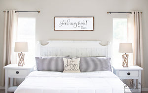 Steal My Heart Not My Blankets | Large Framed Wood Sign | Bedroom Decor | Multiple Sizes Available