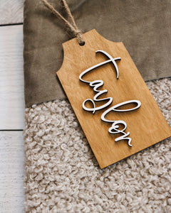 3D Name Stocking Tag | Personalized with Various Color Options Available