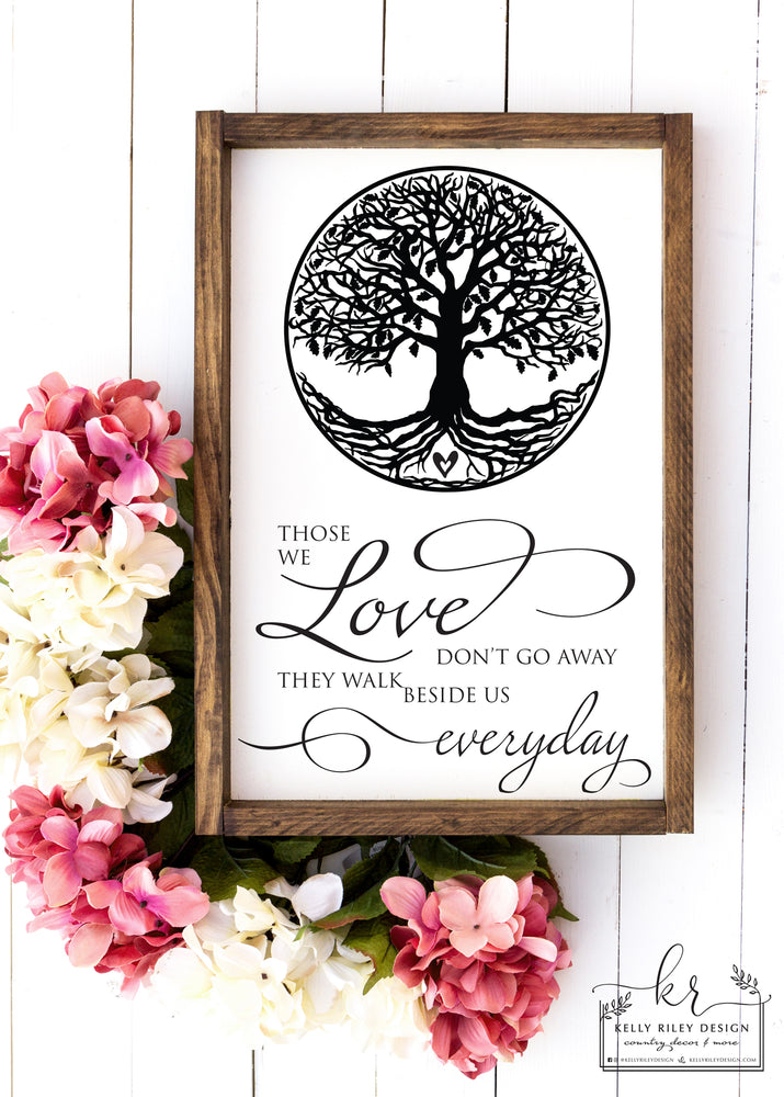 Listing for Sandi W | Those We Love Framed Wood Sign