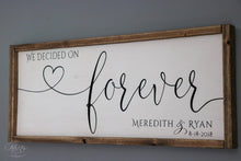 Load image into Gallery viewer, We Decided on Forever | Personalized Wedding Sign