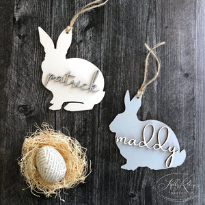 Personalized Wooden Easter Basket Tag | Laser Cut Tag