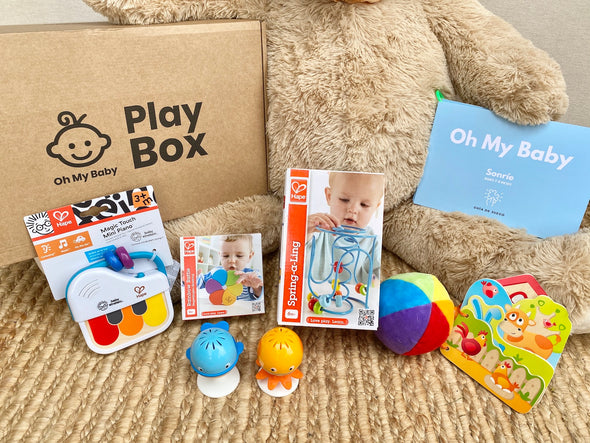 Play Box 'Sonríeeee' (7-8 meses) - Pack Regalo 3 Cajas
