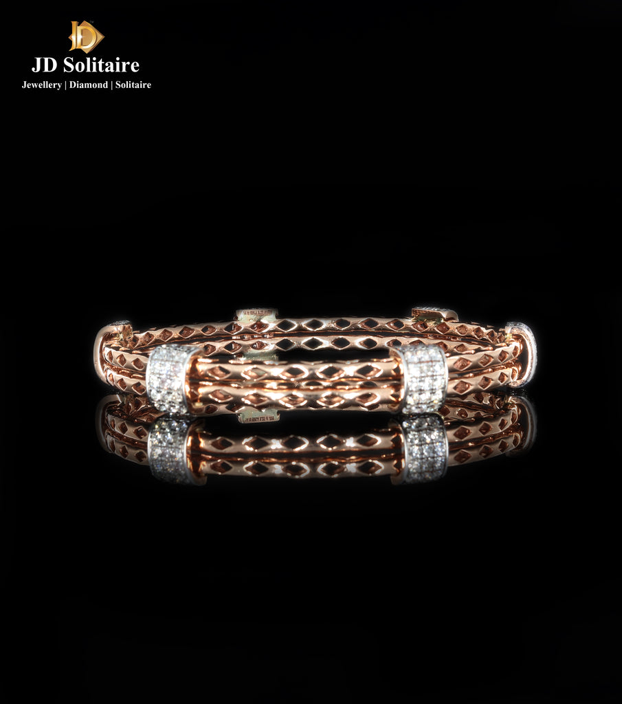 Diamond Rosegold Single Bangle
