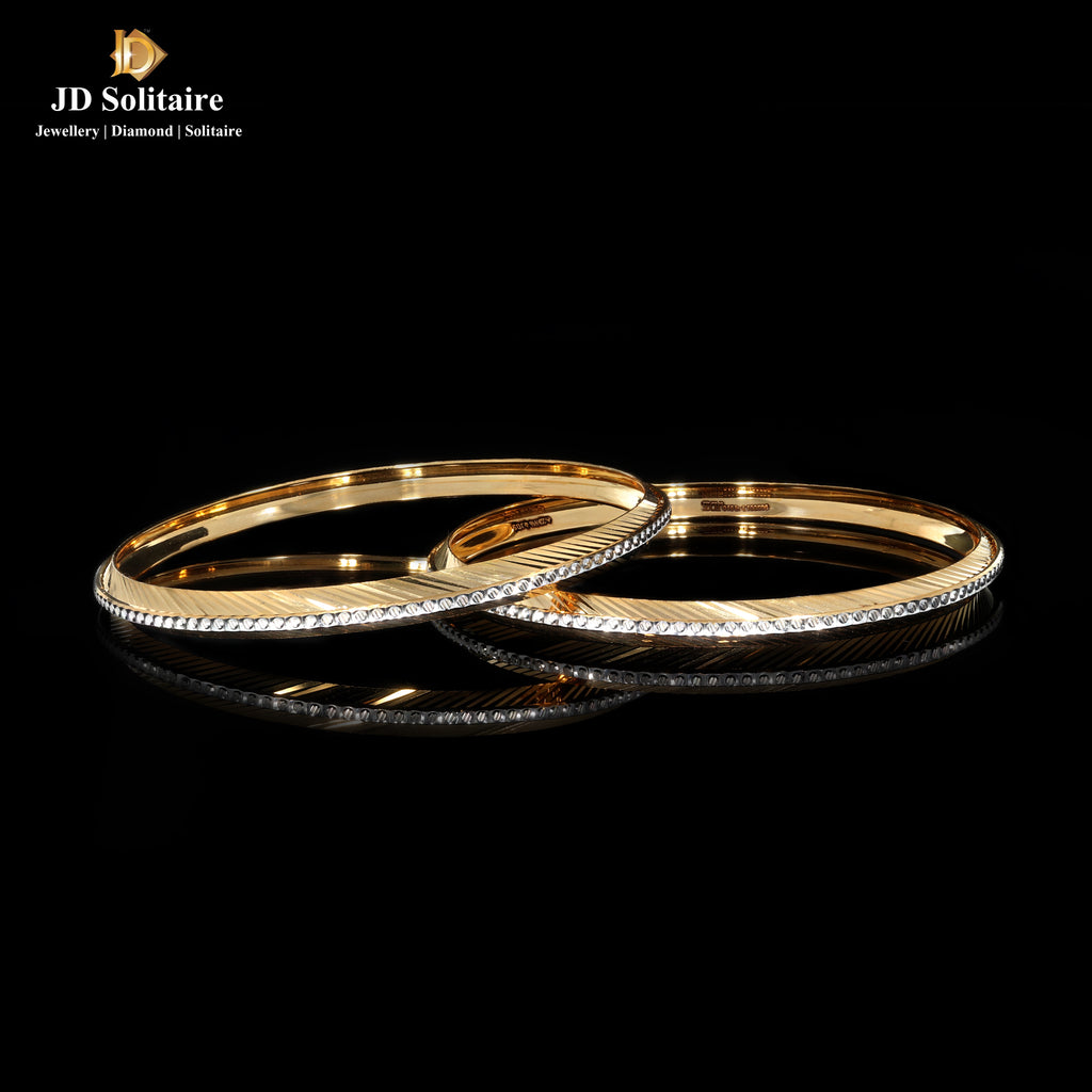 Plain Gold Bangle Pair