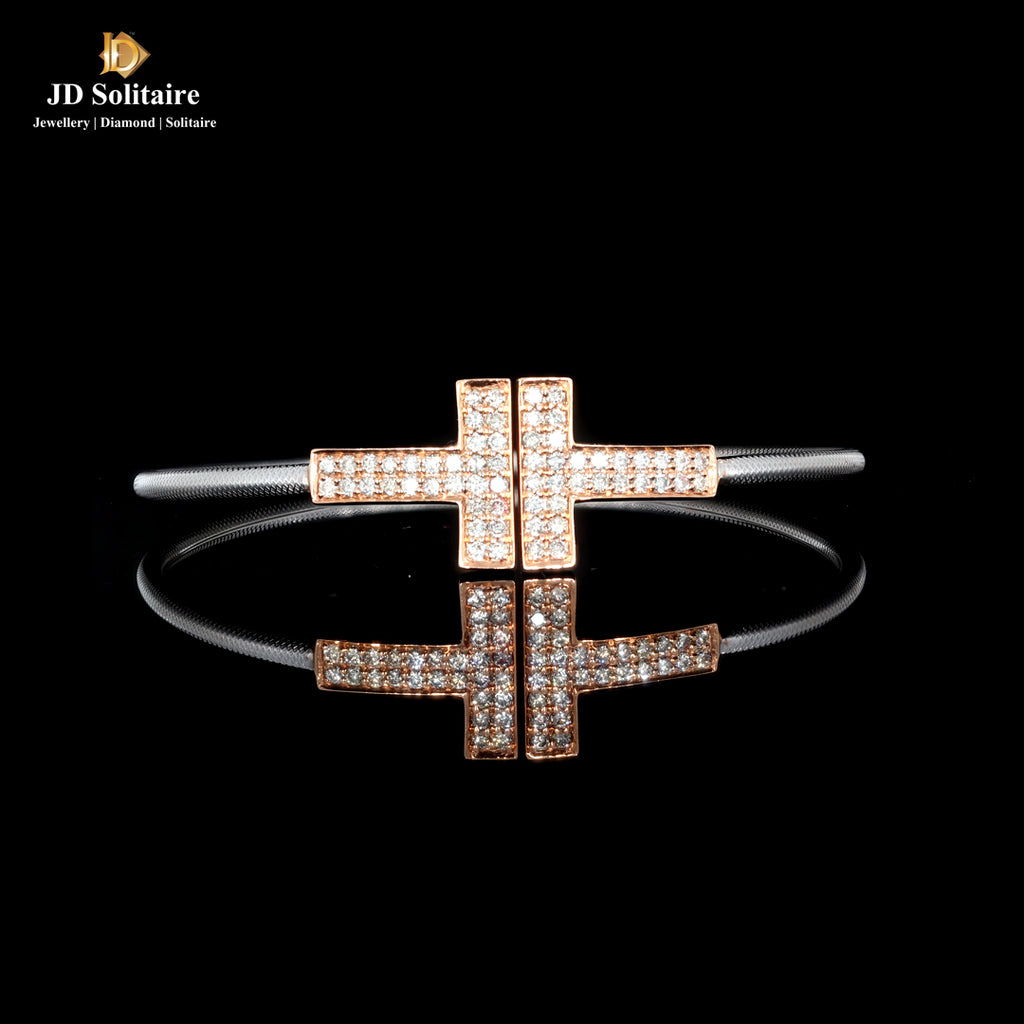 Diamond T Shape Bracelet
