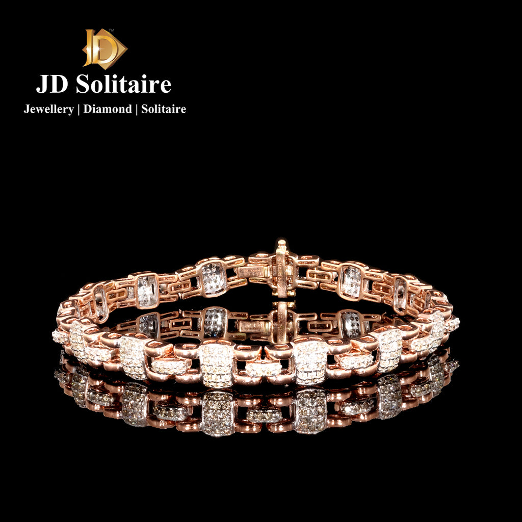Diamond Rose Gold Tennis Bracelet