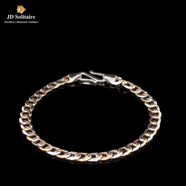 Platinum With Gold Flexible Bracelet