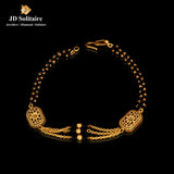 Gold With Black Beads Bracelet