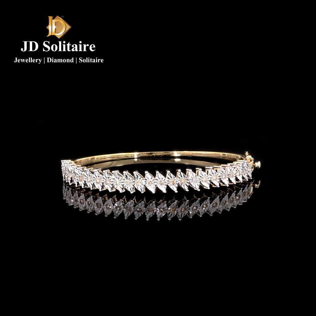 Marquise Look Illusion Setting Yellow Gold Diamond Bracelet