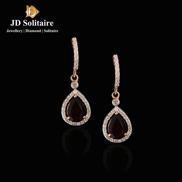 Pear Shape Diamond Bali Earrings