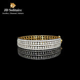 5 Row Diamond Yellow Gold Bracelet