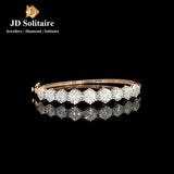 Illusion Setting Diamond Yellow Gold Bracelet
