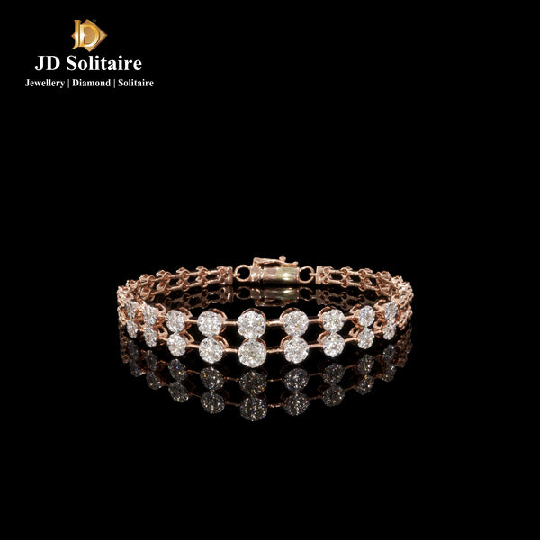 Diamond Double Row Rose Gold Bracelet