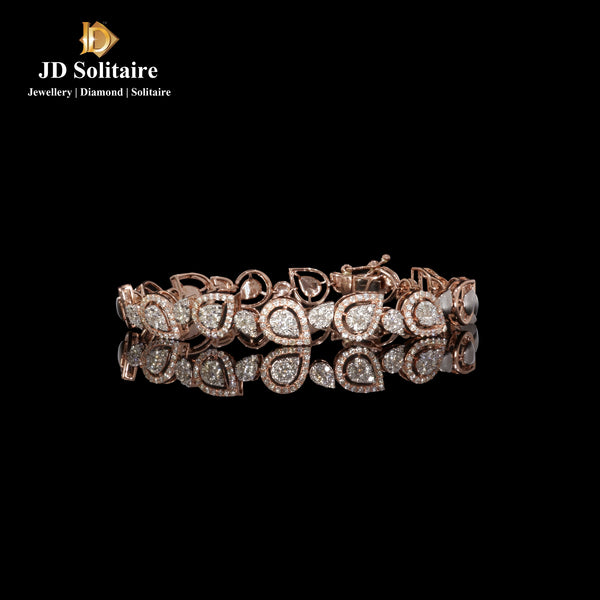 Diamond Rose Gold Tennise Bracelet