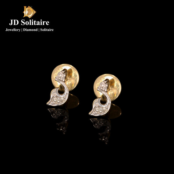 Diamond Yellow Gold Small Earrings