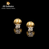 Diamond Yellow Gold Studs