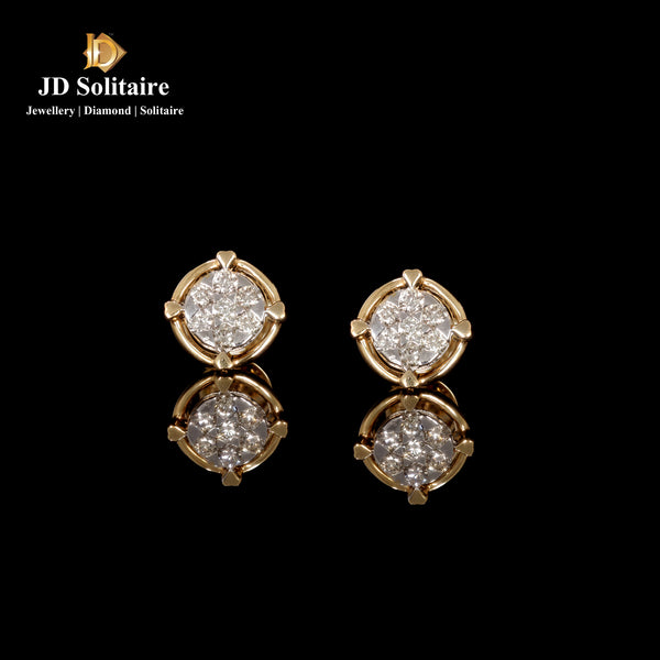 Diamond Yellow Gold Earrings