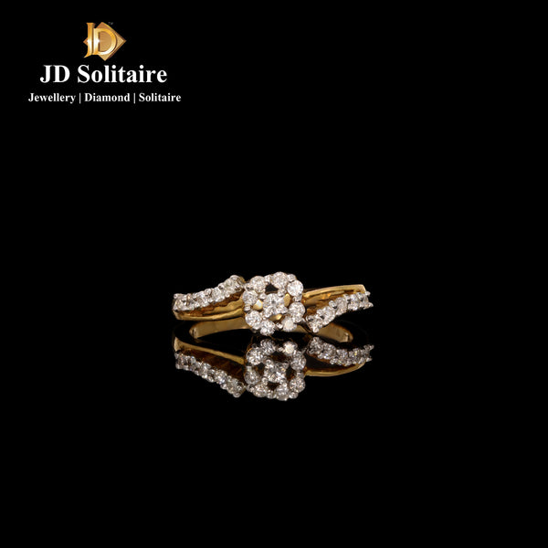 Small Diamond Yellow Gold Ring