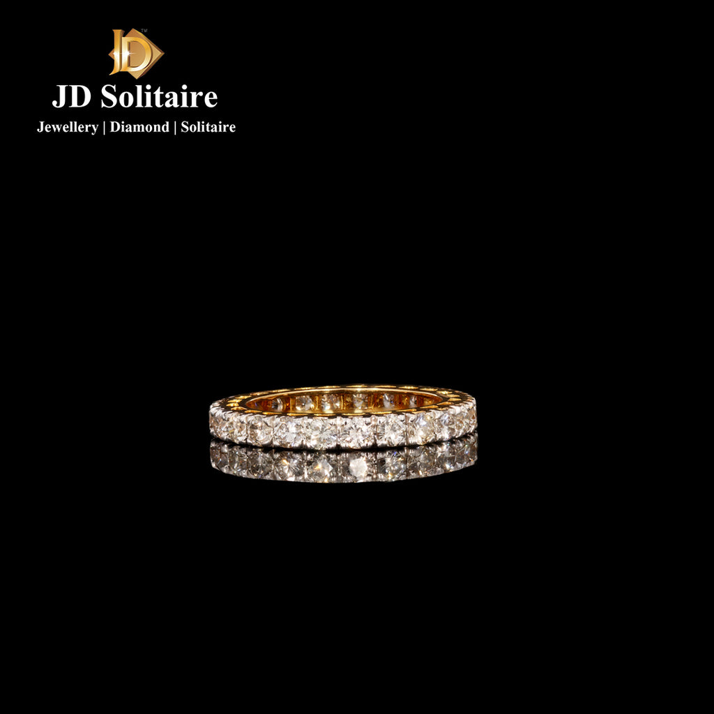 Diamond Yellow Gold Eternity Band Ring
