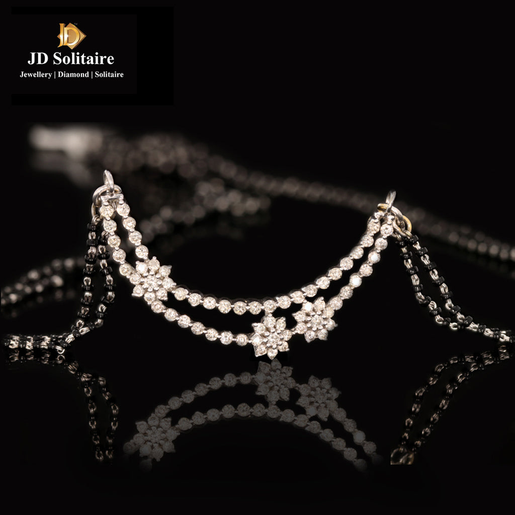 Diamond Tinmania With Double Line Mangalsutra String