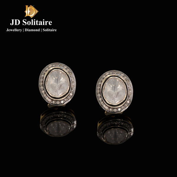 Antique Hyderabadi Polki Earrings