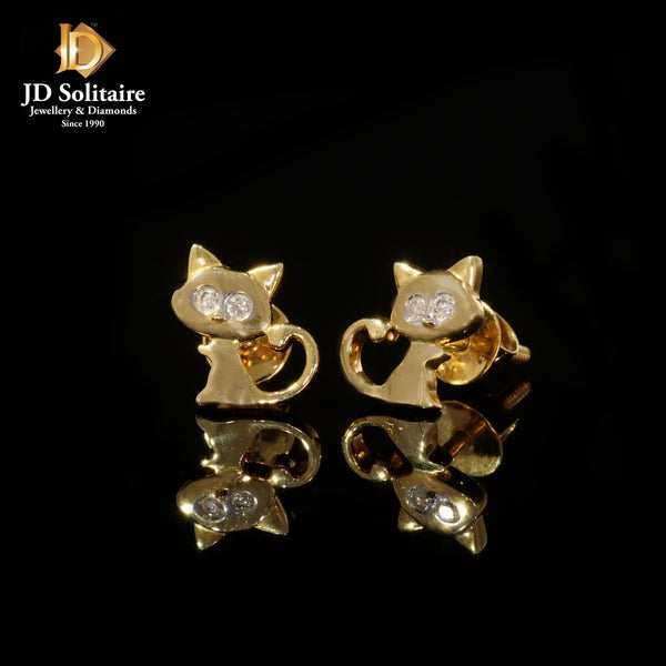 Diamonds Yellow Gold Earrings