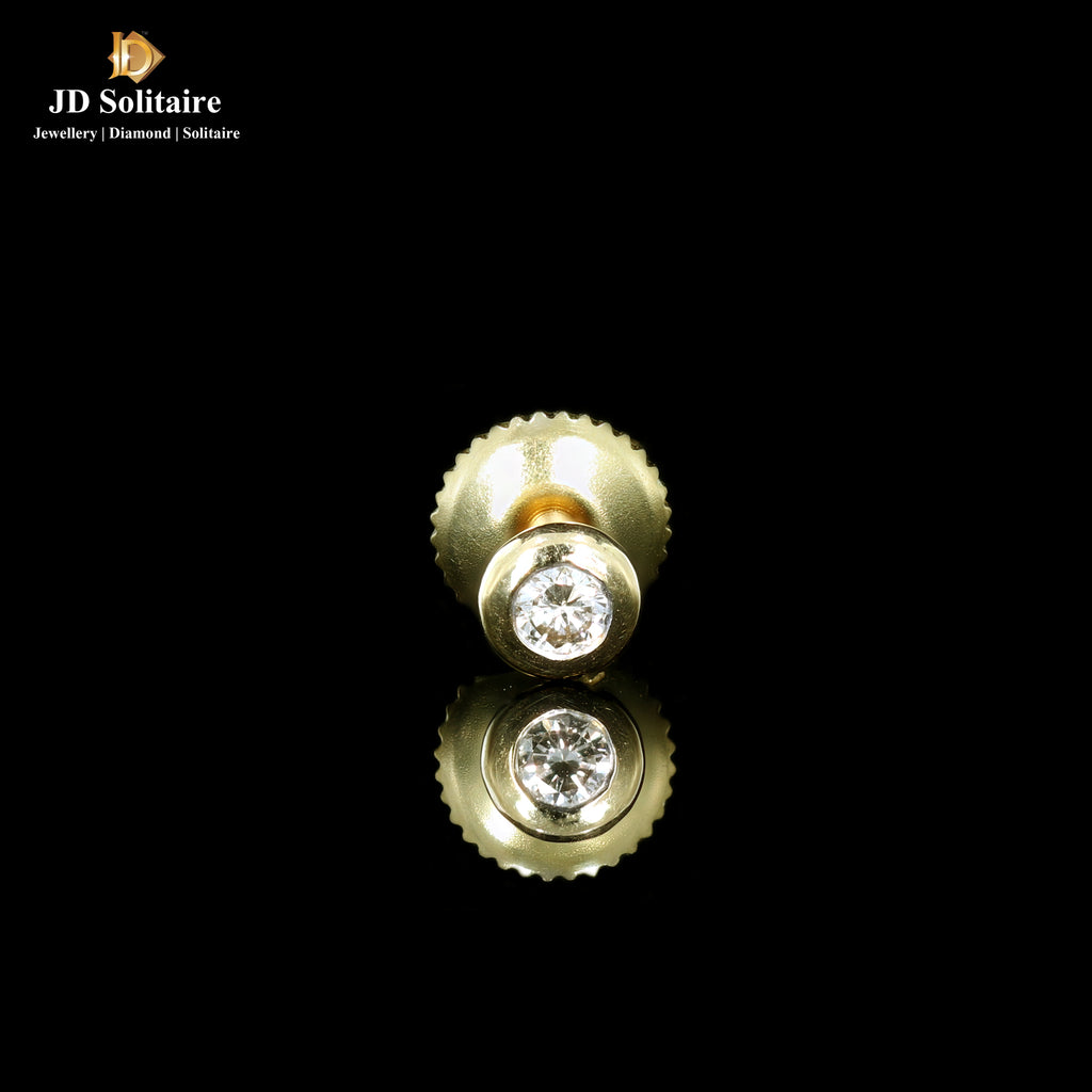 Single Diamond Yellow Gold Men's Stud