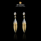 Diamonds Yellow Gold Hanging Earrings