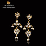 Kundan Polki Pearl Earrings