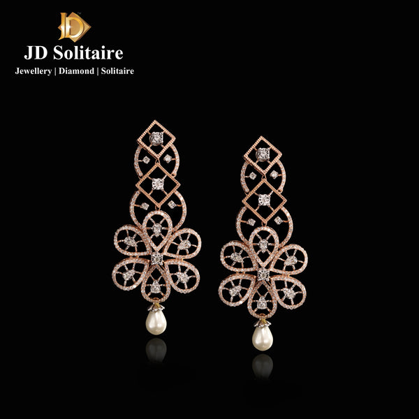 Diamond Rose Gold Earrings