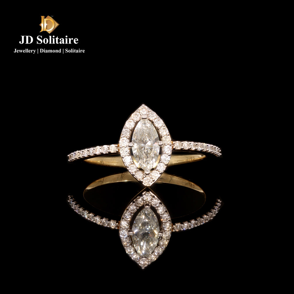 Marquise Cut With Small Diamond Ring