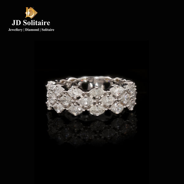 Marquise Cut Diamond White Gold Ring