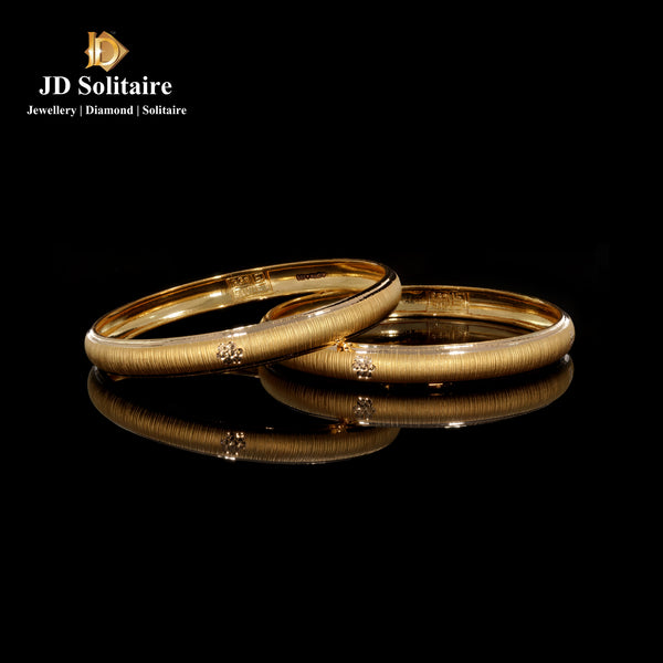 Yellow Gold Bangle Pair