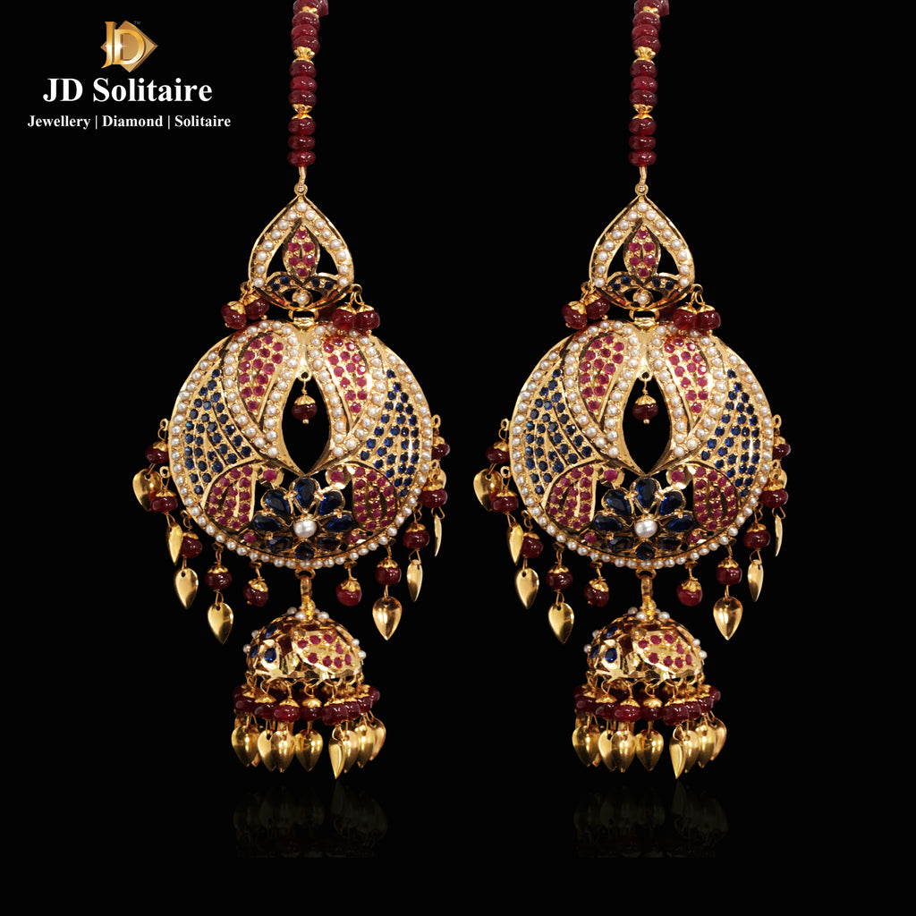 Jadau Chandbali Earrings