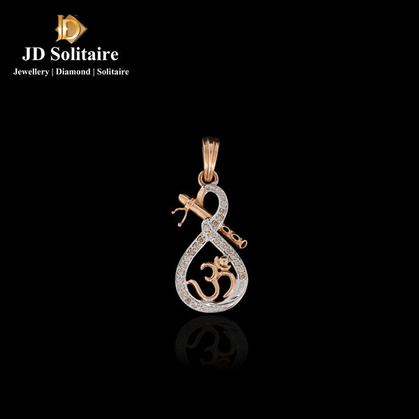Diamond Om Pendant Only