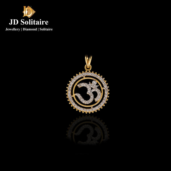 Diamond Yellow Gold OM Pendant