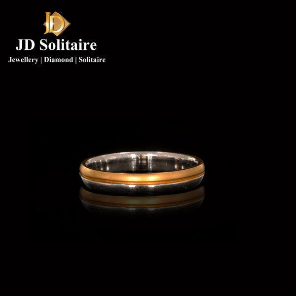 White, Yellow Gents Plain Gold Band Ring