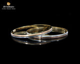 Plain Yellow Gold Bangle Pair