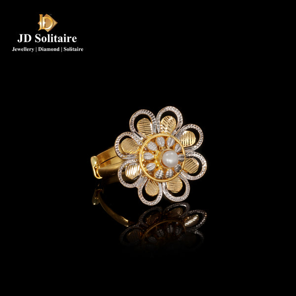 Flower Design Yellow Gold Rings
