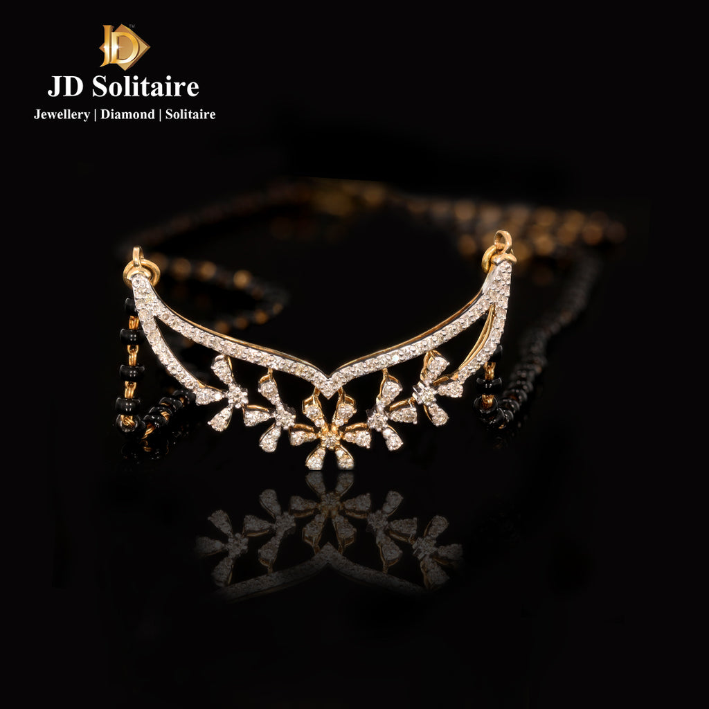 Diamond Yellow Gold Mangalsutra