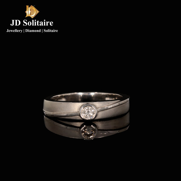 Diamond Platinum Band Ring
